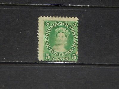 New Brunswick Scott #8 stamp - probably used - 1860 - nice old classic !!