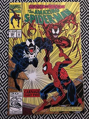 AMAZING SPIDER-MAN #362_MAY 1992_VERY FINE+_VENOM_2nd APPEARANCE CARNAGE!