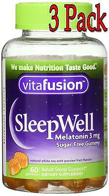 Vitafusion SleepWell Gummy, Sleep Aid for Adults, 60ct, 3 Pack 027917023106A504