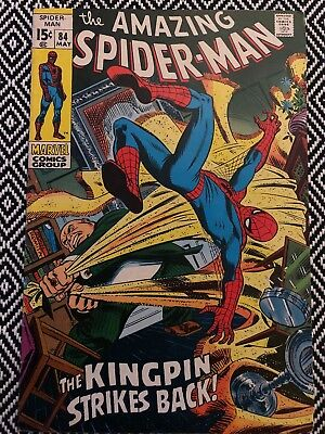 AMAZING SPIDER-MAN 84 1970 KINGPIN! Very Nice!
