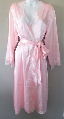 Fredericks Of Hollywood Nicole Robe M Medium Pink Lace New $78