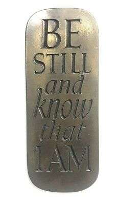"""The Wild Goose Studio """"Be Still And Know That I Am """" Bronze Plaque Ireland"""