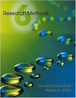 Research Methods (with InfoTrac) (Available Titles CengageNOW) 6th Edition  by D