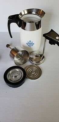 Replacement Vintage CORNING WARE 10 Cup Electric Coffee  Percolator CORNFLOWER