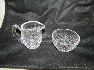 Waterford Crystal Lismore Creamer And Open Sugar Bowl Mini