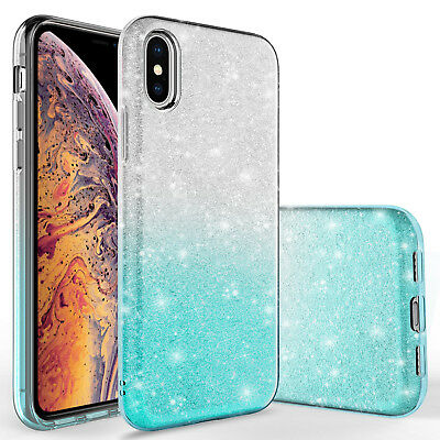 For iPhone Xs Max Slim Shinning Bling Glitter Sparkle Case
