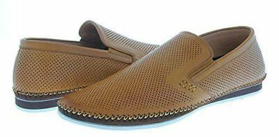 05d74684392 NEW ZANZARA MENS MERZ Slip-On Premium Perforated Leather Shoes ...