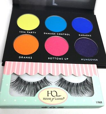 HOUSE OF LASHES and LAURA LEE Eye lashes and Eyeshadow Palette - SET - NEW