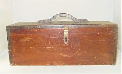 Vintage Handmade Wooden Handle Tool Boxes./ Tool Chest