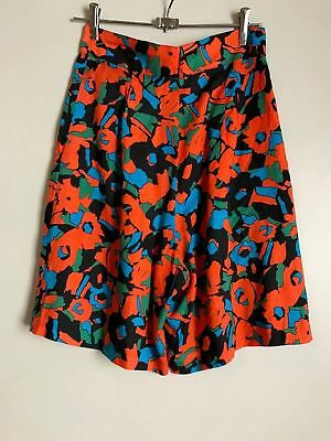 Vintage 80's Katies Size 14 High Waist Abstract Floral Shorts Australian Made