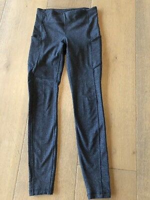 "Lululemon Full Length Gray ""tweed"" Legging, Size 6"