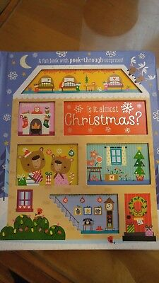 Is it almost Christmas? Fun Children's book with peek-through surprises!