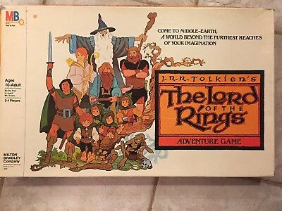 1979 Milton Bradley J.R.R. JRR Tolkien's The Lord Of The Rings Adventure Game