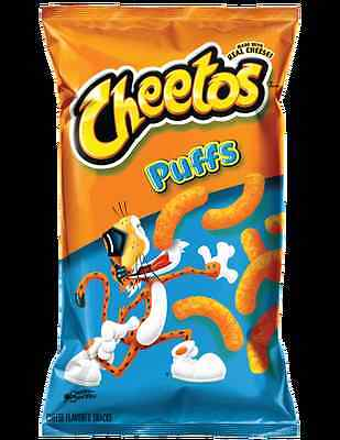 2 Bags of Cheetos Puffs 8 oz Get Puffed Up and Cheesy with Cheetos Puffs