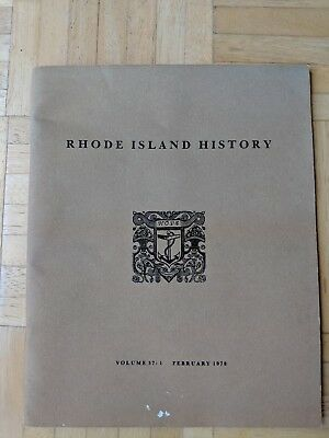 February 1978 Rhode Island Historical Society Quarterly Report Book-Good Cond.