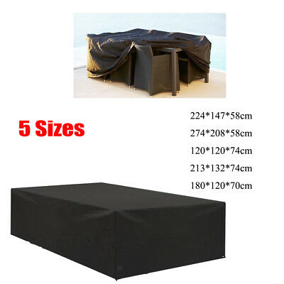 Garden Patio Furniture Set Cover Waterproof Rattan Cube Table Outdoor Covers
