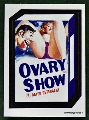 NEW Lost Wacky Packages 4th Series OVARY SHOW PURPLE with White Back