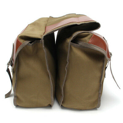 Olive Green Motorcycle Saddle Bag Tool Storage Canvas Pouch Box Strong Stitching