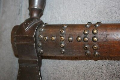 Antique Blackfoot Pipe Tomahawk Native American Indian Primitive Tacked Shaft