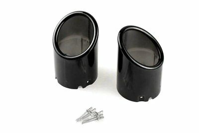 2x Premium Tail Pipes Black Exhaust in Original Quality for Many Vehicles