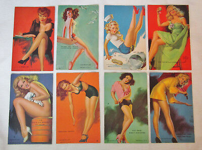 Lot of 8 Vintage Mutoscope Pin-up Girl Arcade cards Zoe Mozert, Earl Moran