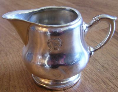 """East Asiatic Steamship Company 2"""" Antique Creamer Silver Plate"""