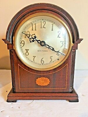 "Seth Thomas Mantle Clock Dome Top 10 1/2"" X 8 1/2"""