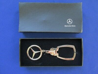 Mercedes Benz Sterling Silver Keychain with Box Mercedes-Benz
