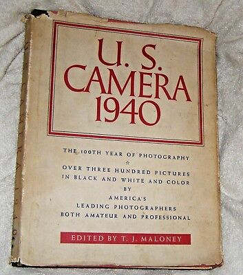 1940 US CAMERA ANNUAL by Maloney, Pub by US CAMERA,  Hardcvr in DJ.