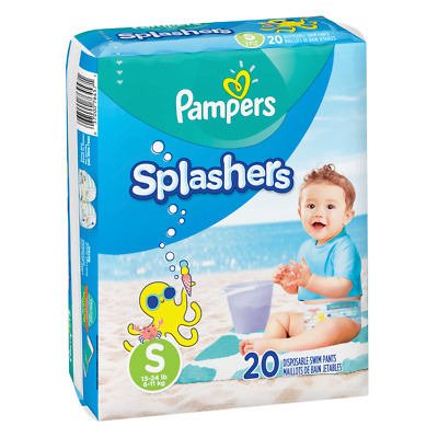 Pampers Splashers Disposable Swim Pants Diapers Small 13-24 lbs 1 Pack (20 pcs)
