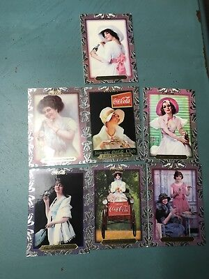 Lot Of 7 Coca Cola Super Premium Collection Trading Cards-Pre-Owned NO RESERVE