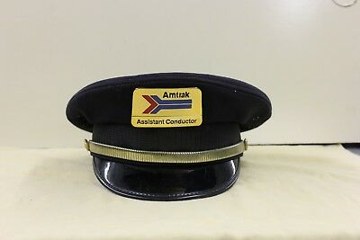 AMTRAK  Railroad ASISANT CONDUCTOR'S HAT NAVY BLUE