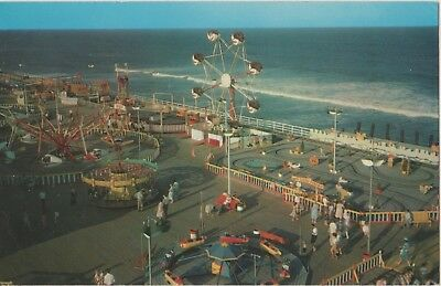 Post Card Of The Rides And Ocean Surf At Seaside Park, New Jersey, Bev