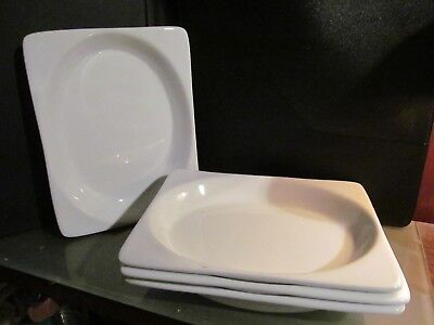 4 x UNITED AIRLINES FC ONEIDA entree plate dish tray lot salad meal service