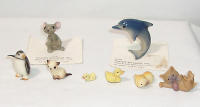 Hagen-Renaker Miniature Aminal & Small Figurines - Mouse, Dolphin, Cats, Duck +