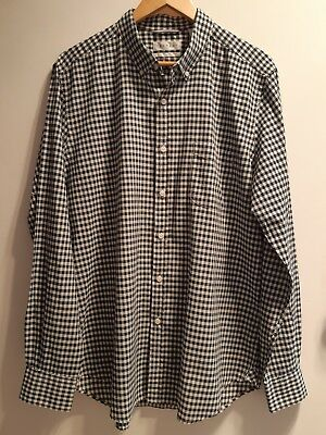 Trenery Mens Blue & White Checked Shirt New With Tags 100% Cotton