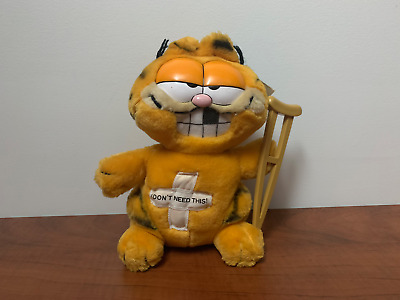 Vintage 1981 Dakin Garfield I Don't Need This Plush Toy Stuffed Animal with Tags