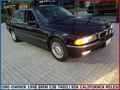 1998 BMW 7-Series 740IL ONE-OWNER 1998 BMW E38 740IL RARE BLACK ON BLACK ONLY 95K MILES CALIFORNIA CAR!