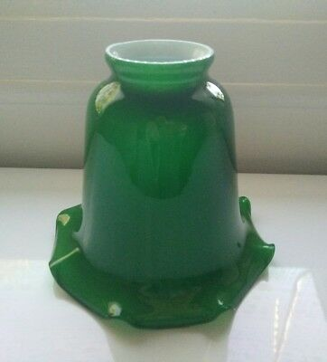 Vintage green glass shade