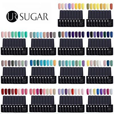 8Bottles UV Gel Nail Polish Set Soak off Candy Color Gel Manicure UR SUGAR Gel