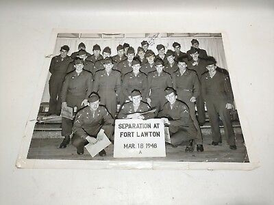 1948 Military World War 2 Fort Lawton Separation Photo