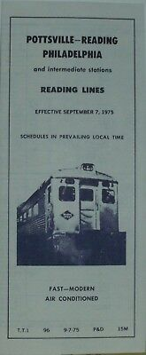 7  different Reading passenger timetables September 7, 1975