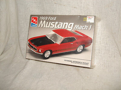 Amt 1/25 1969 Ford Mustang Mach I Model Kit  Factory Sealed