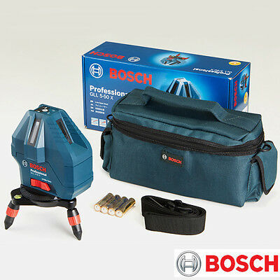 Bosch GLL 5-50X Professional 5-Line Laser Level Measure Self-Leveling with Bag