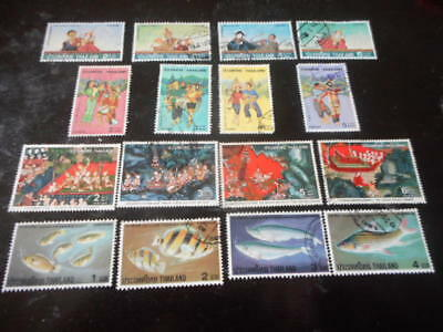 stamps thailand misc in full sets x 16