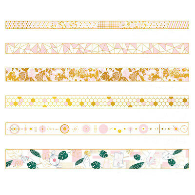 Pink Foil Paper Washi Tape Kawaii Stationery Scrapbooking Decorative Tapes New