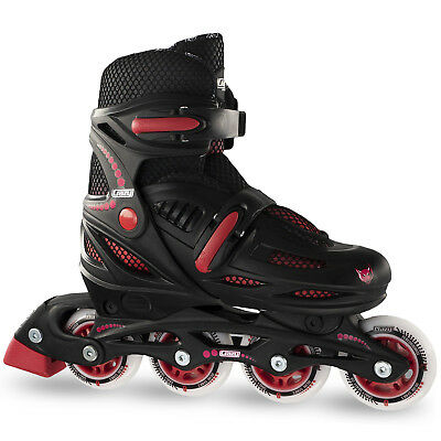 Crazy 148 BLACK & RED KIDS Adjustable Roller Blades $79