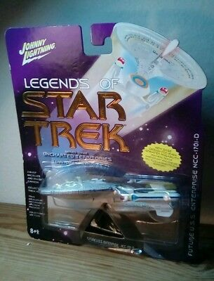 Johnny Lightning Legends of Star Trek U.S.S Enterprise NCC-1701-D SERIES THREE