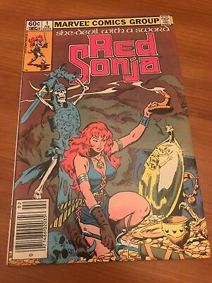 RED SONJA #1 SHE DEVIL WITH A SWORD Roy Thomas Conan The Barbarian Marvel Rare!