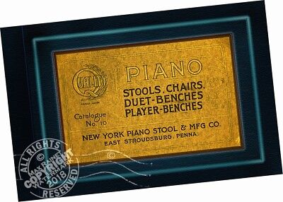 New York Piano Stool Mfr Co 1894 CATALOGUE Stools Chairs Duet + Player Benches
